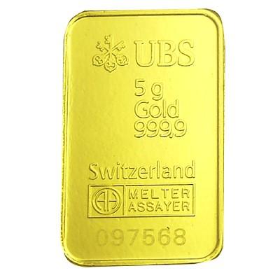 Ubs 瑞士銀行 精裝版金條 100克 現金價 黃金條塊 金條商品 詮美珠寶 網上商店